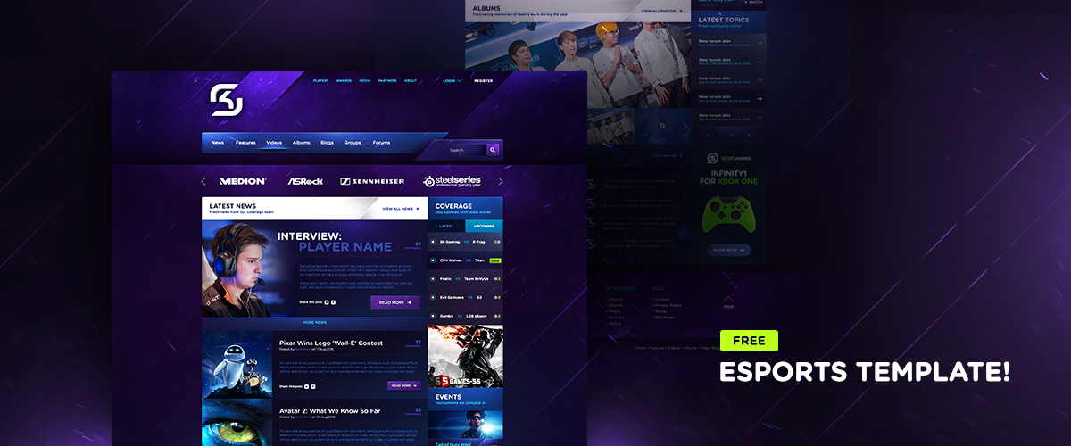 A chance to win a free eSports & Gaming HTML template. Enter now ...